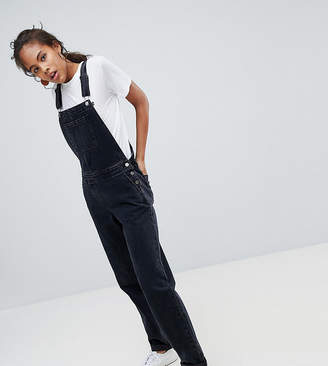 Asos Tall DESIGN Tall Denim Dungaree In Washed Black