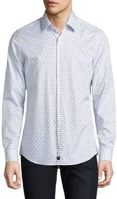 Strellson Men's Dot Dobby Button-Down Shirt