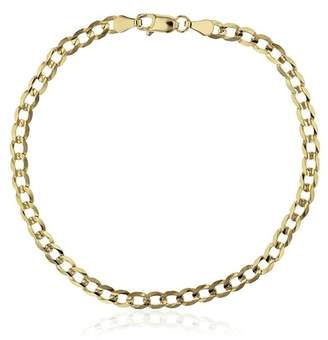 Best Silver Inc. 14K Gold Cuban Chain Bracelet