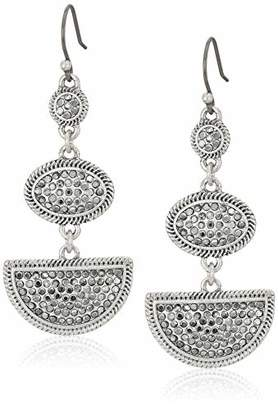 Lucky Brand Pave Statement Drop Earrings