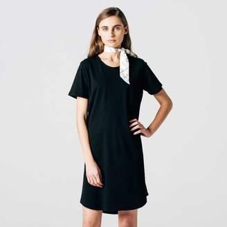 DSTLD Womens Scoop Neck Tee Dress in Black