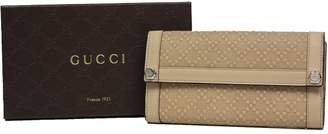 Gucci Diamante Leather Continental Flap Wallet 231839