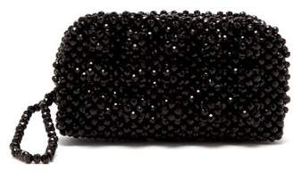 Shrimps - Molly Faux Pearl Embellished Clutch Bag - Womens - Black