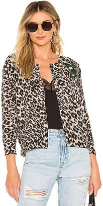 Le Superbe Cobain Leopard Cashmere Cardigan