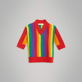 Burberry Childrens Striped Wool Cashmere Sweater Dress