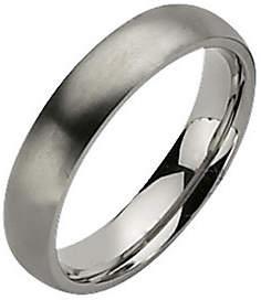 QVC Titanium 5mm Brushed Ring - Unisex