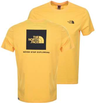 The North Face Red Box T Shirt Yellow