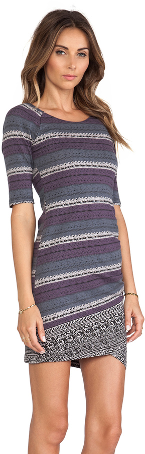 Free People Border Print Bodycon Slip Dress