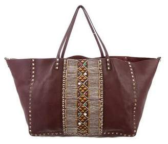 Valentino 2016 Rolling Rockstud Convertible Tribal Tote w/ Tags