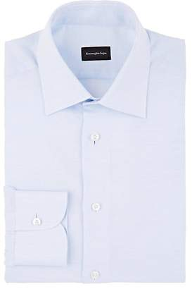 Ermenegildo Zegna Men's Slub Cotton-Linen Dress Shirt