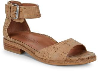 Gentle Souls Women's Gracey Natural Leather Ankle-Strap Sandals