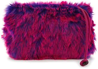 Dries Van Noten Faux-fur clutch