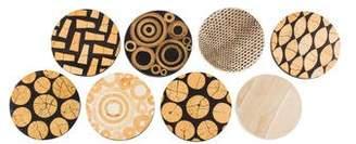 R & Y Augousti R&Y Augousti 8-Piece Patterned & Shell-Trimmed Coaster Set