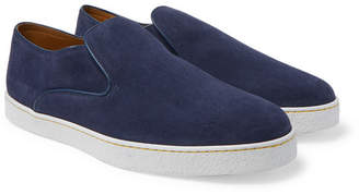 John Lobb Haven Suede Slip-On Sneakers - Men - Navy