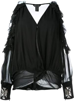 Thomas Wylde cold shoulder blouse