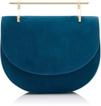 M2Malletier M'O Exclusive Mini Half Moon Suede Shoulder Bag