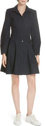Derek Lam 10 Crosby Paneled Cotton Shirtdress