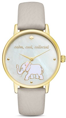 kate spade new york Elephant Metro Watch, 34mm $195 thestylecure.com