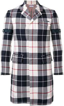 Thom Browne Buffalo Tartan Chesterfield Overcoat