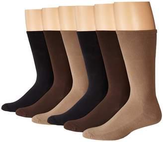 Ecco Socks Cushion Mercerized Cotton Sock 6-Pack Men's Crew Cut Socks Shoes