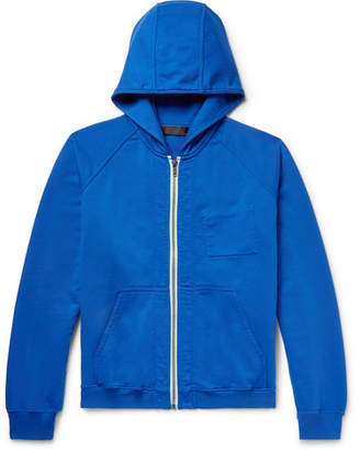 Haider Ackermann Loopback Cotton-Jersey Zip-Up Hoodie