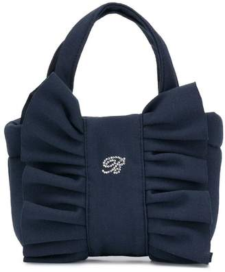 Miss Blumarine small ruched front tote bag