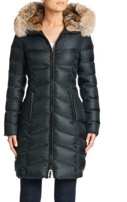Dawn Levy Daphne Fur Trim Down Puffer Coat $895 thestylecure.com