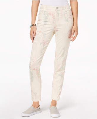 Style&Co. Style & Co Petite Printed Slim-Leg Ankle Jeans, Created for Macy's