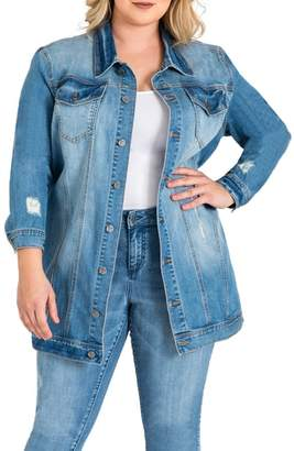 Standards & Practices Margot Longline Denim Jacket