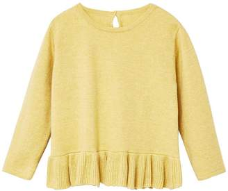 MANGO Baby Girls Ruffle Knitted Jumper - Lime