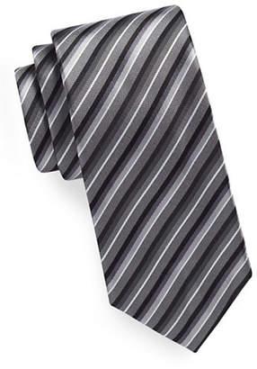 Geoffrey Beene Tonal Stripe Silk-Blend Tie
