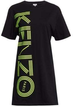 Kenzo Logo Cotton T-Shirt Dress