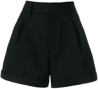 Saint Laurent flared design shorts