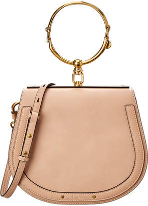Chloé Nile Small Leather & Suede Saddle Bag