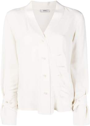 Mauro Grifoni off-centre button blouse