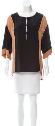 A.L.C. Silk Colorblock Tunic