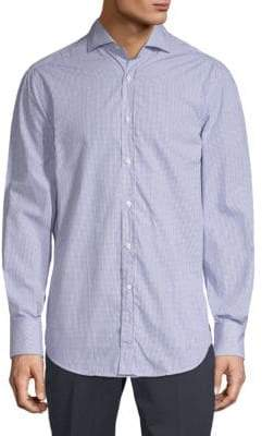 Brunello Cucinelli Windowpane Cotton Button-Down Shirt