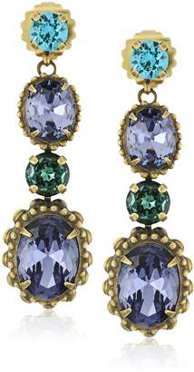 Sorrelli Oval Crystal Adorned Statement Drop Earrings