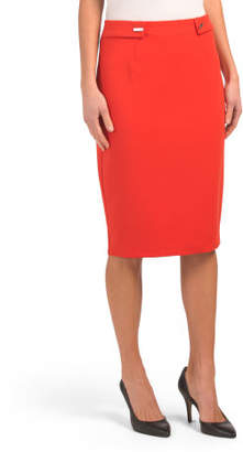 Pencil Skirt With Bar Tab Details