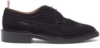 Thom Browne Longwing stacked-sole suede brogues