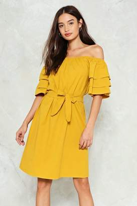 Nasty Gal nastygal The Tier and Now Off-the-Shoulder Dress
