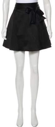 Alice + Olivia Sateen Mini Skirt