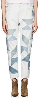 Etoile Isabel Marant Women's Lea Patchwork Slim Jeans - Lt. Blue