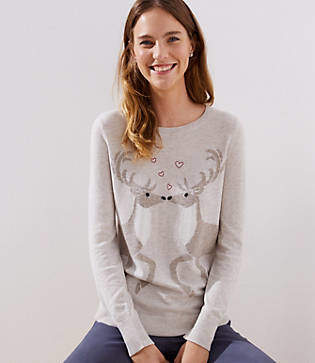 LOFT Reindeer Sweater