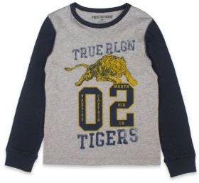 True Religion Boy's Tiger Printed Varsity Tee $39 thestylecure.com