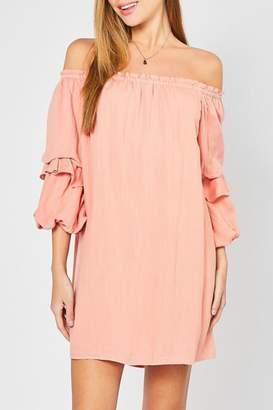 Entro Tiered Sleeve Ots-Dress