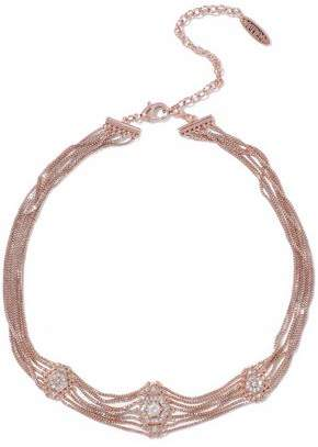 Luv Aj Pave Kite Rose Gold-Tone Crystal Choker