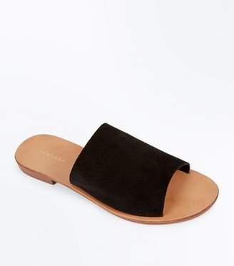 New Look Black Suede Mules