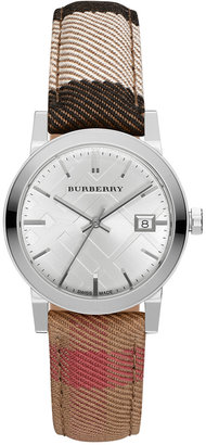 Burberry Women's Housecheck Fabric Strap Watch 34mm BU9151 $495 thestylecure.com