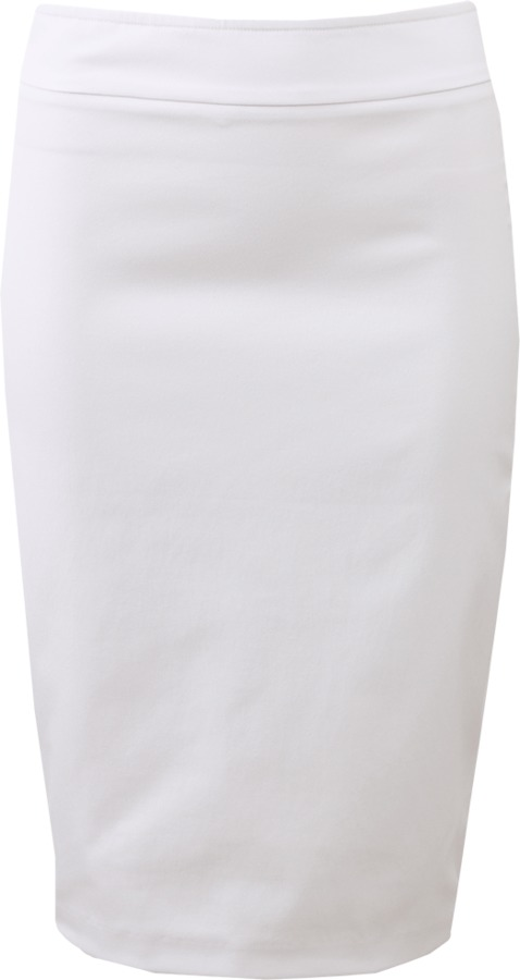 White Stretch Pencil Skirt - ShopStyle Australia